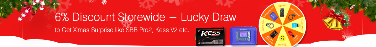 6% Off Discount and Lucky Draw for X'mas