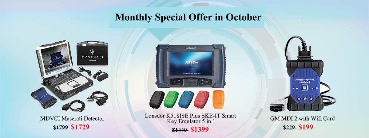 Monthly Special Offer in October