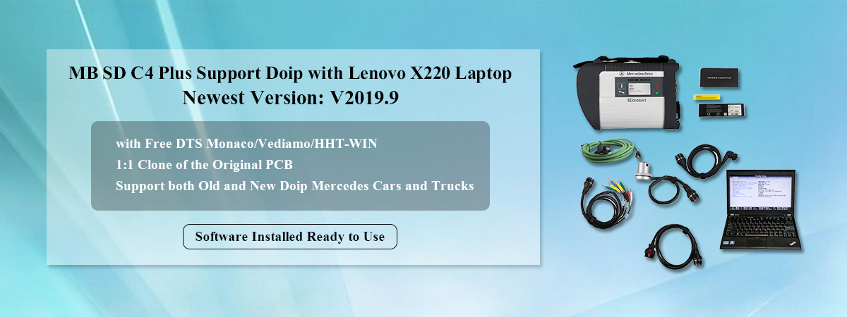 MB SD C4 Plus Support Doip with Lenovo X220 Laptop