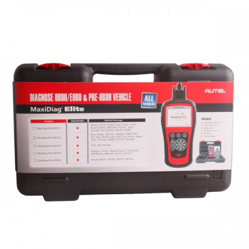 Autel Maxidiag Elite MD702 With Data Stream Function Europen Vehicles For All System Update Online Lifetime