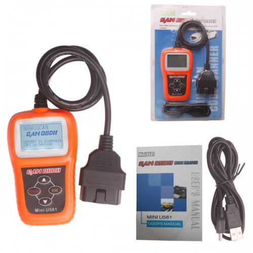 Memoscan Mini U581 CAN OBDII/EOBDII Reader Support Multi languages Update Online