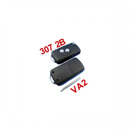 Remote Key Shell 2 Button VA2 (307 without Groove) for Citroen 10pcs/lot