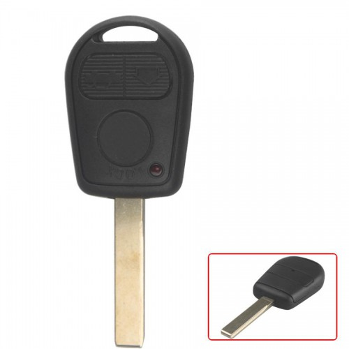 Transponder Shell 3-button 2 Track (with Plastic Mat) for BMW 5pcs/lot
