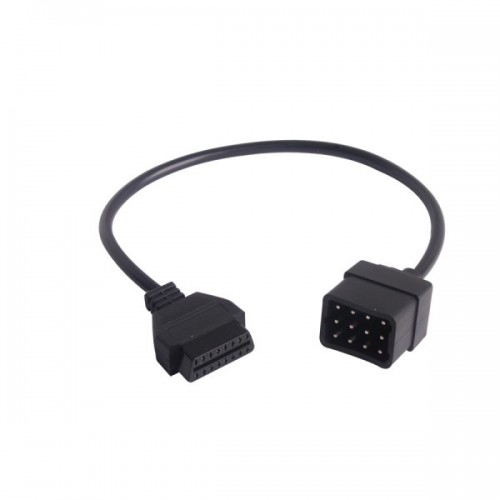 Renault 12 Pin OBD to OBD2 Female Connector Adapter