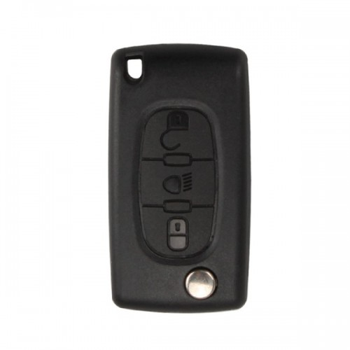 Remote Key Shell 3 Button (Light Button Without Battery Location) For Citroen Flip 5pcs/lot