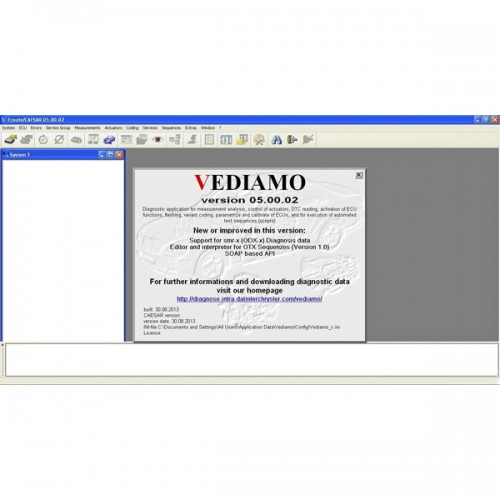 Vediamo V05.00.05 Development and Engineering Software for MB SD C4 Suitable for All Serial Numbers Not Including Database