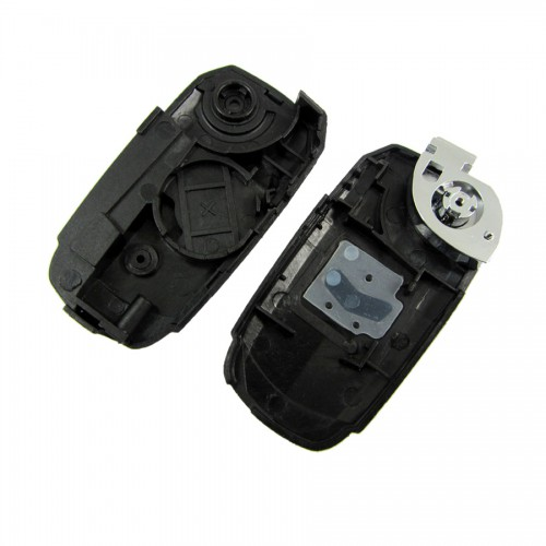 Flip Remote Key Shell 1 Button Black Color for Fiat  5pcs/lot