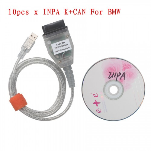10pcs New BMW INPA K+CAN With FT232RQ Chip with Switch