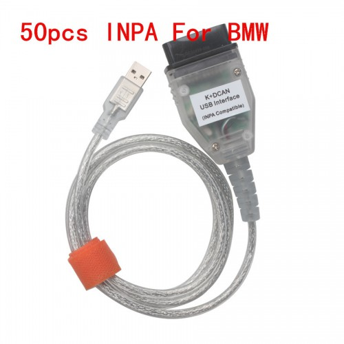50pcs New BMW INPA K+CAN With FT232RQ Chip with Switch