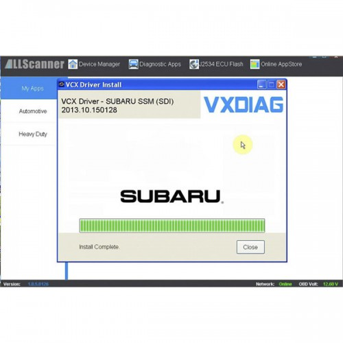 V2018.4 SUBARU SSM-III Software Update Package for VXDIAG Multi Diagnostic Tool