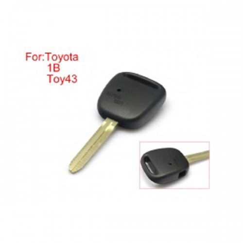 Remote Key Shell Side Face 1 Button Easy to Cut Copper without Logo TOY43 for Toyota 10pcs/lot