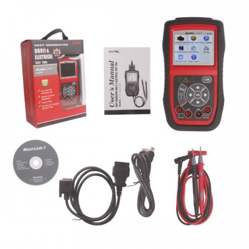 Original Autel AutoLink AL539 OBDII/CAN SCAN TOOL Internet Update Multilingual Menu Ship From US