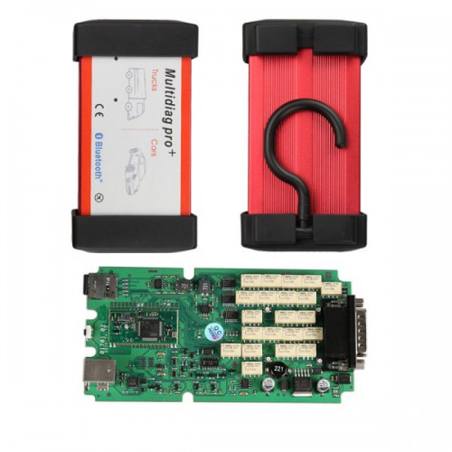 V2014.03 New Design Bluetooth Multidiag Pro+ For Cars/Trucks And OBD2 With 4GB Memory Card Support Win8