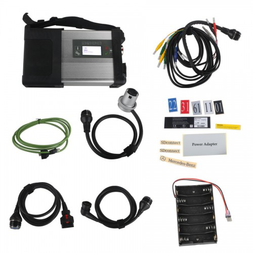 New Design MB SD Connect Compact 5 Star Diagnosis with WIFI for Cars and Trucks Multi-Langauge without Software HDD