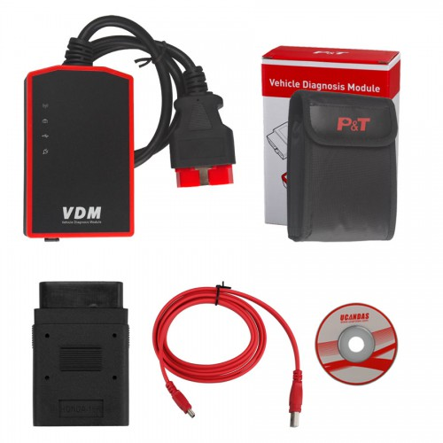 V3.9 VDM UCANDAS Wireless Automotive Diagnosis System with Honda Adapter Support Andriod V5.2