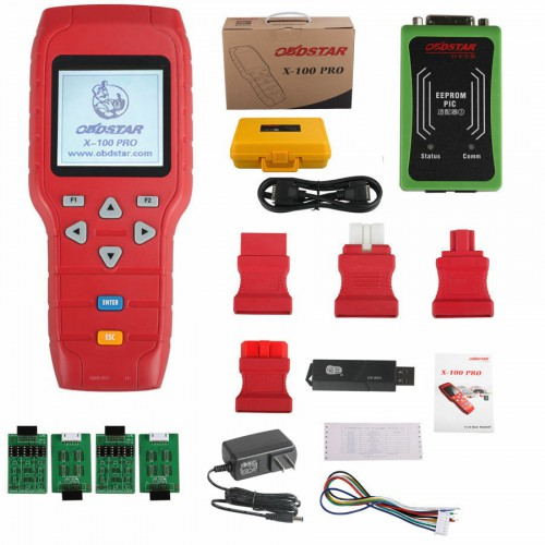 [Ship from US No Tax] OBDSTAR X-100 PRO Auto Key Programmer (C+D) Type for IMMO+Odometer+OBD Software Get Free PIC and EEPROM 2-in-1 Adapter