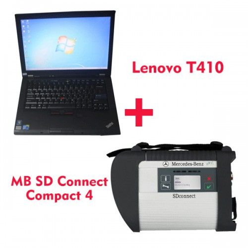 2018.7V MB SD C4 Star Diagnosis with 256GB SSD Plus Lenovo T410 Laptop 4GB Memory Software Installed Ready to Use