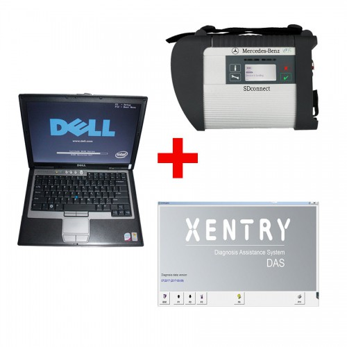 2018.12V MB SD Connect Compact 4 Star Diagnosis Plus Dell D630 Laptop 4GB Memory Software Installed Ready to Use