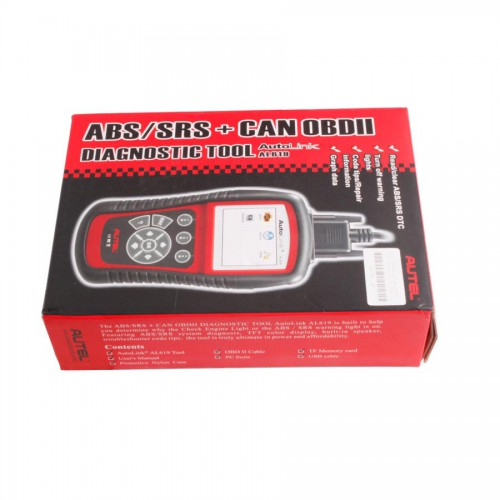 [US/UK Ship No Tax] Original Autel AutoLink AL619 OBDII CAN ABS and SRS Scan Tool Update Online