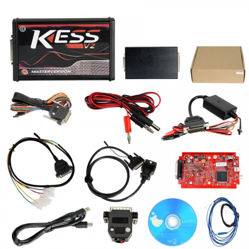[UK Ship No Tax] Kess V2 V5.017 EU Version SW V2.47 with Red PCB Online Version Support 140 Protocol No Token Limited