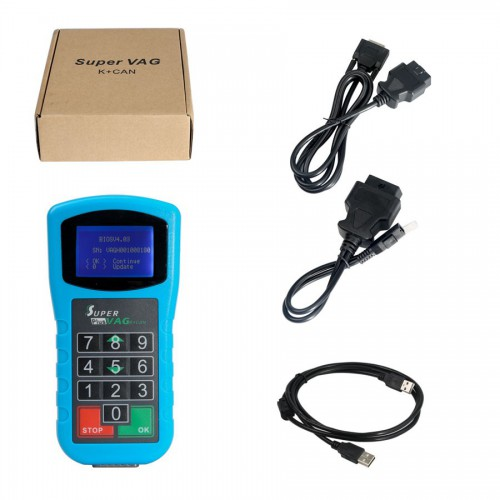 Super VAG K+CAN Plus 2.0 VAG Diagnosis Scanner Mileage Correction Tool For Audi VW Auto Key Programmer