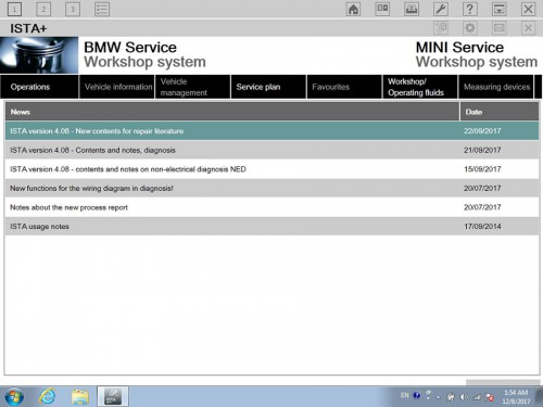 V2017.12 BMW ICOM Software ISTA-D 4.08.12 ISTA-P 3.63.0.400 Engineering Mode Windows 7 HDD