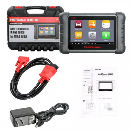 [UK Ship No Tax] AUTEL MaxiCheck MX808 Android Tablet Diagnostic Tool Code Reader Update Online Free for One Year