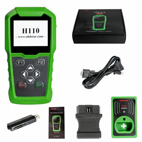 [7% off $259.47] OBDSTAR H110 VAG I+C for MQB VAG IMMO+KM Tool Support NEC+24C64 and VAG 4th 5th IMMO