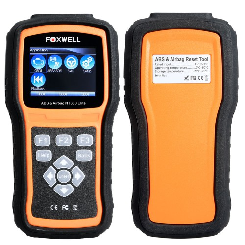 Foxwell NT630 Elite ABS and Airbag Reset Tool with SAS