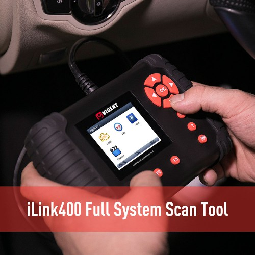 Original VIDENT iLink400 Full System Scan Tool Single Make Support ABS/SRS/EPB//DPF Regeneration/Oil Reset