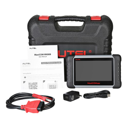 [UK Ship No Tax] Autel MaxiCOM MK808 OBD2 Diagnostic Scan Tool with All System and Service Functions (MD802+MaxiCheck Pro)