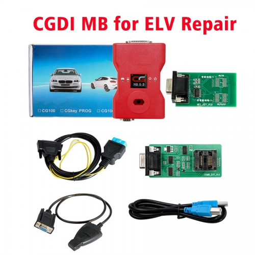 2018 CGDI Prog MB Benz Key Programmer Support All Key Lost with ELV Repair Adapter