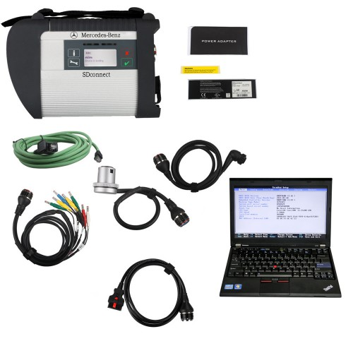 V2019.5 MB SD C4 Connect Compact 4 Star Diagnosis Plus Lenovo X220 Laptop Software Installed Ready to Use