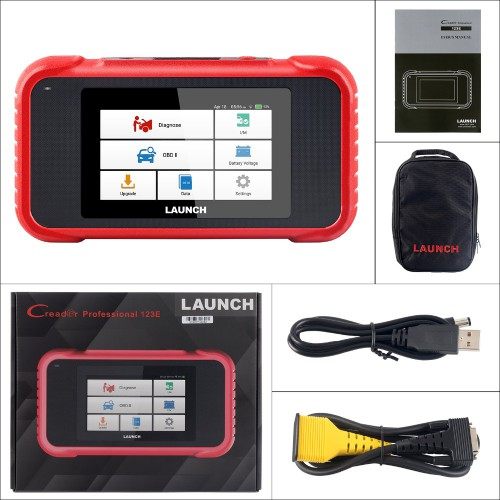 New Arrival LAUNCH X431 CRP123E OBD2 Code Reader for Engine ABS Airbag SRS Transmission OBD Diagnostic Tool Free Update Online Lifetime