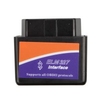 MINI ELM327 Bluetooth OBD2  (Black) Firmware V2.1
