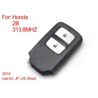 Remote Control Key 2Buttons 313.8MHZ (Blue) for Honda Intelligent
