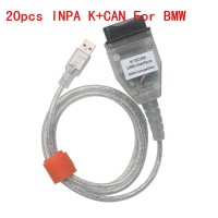 20pcs New BMW INPA K+CAN With FT232RQ Chip with Switch