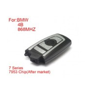 Remote Key 4 Buttons 868mhz 7953 Chips Silver Side for BMW CAS4 F Platform 7 Series