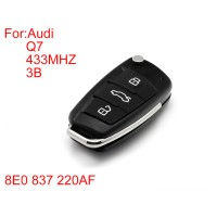 Remote Key 3buttons 433mhz (With Special 8E Chips)Q7 8E0 837 220AF For Audi