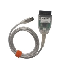[US/UK Ship No Tax] MINI VCI for TOYOTA V13.00.022 Single Cable Support Toyota TIS OEM Diagnostic Software