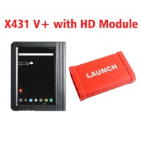 [UK Ship No Tax] X431 PRO3 Launch X431 V+ 10.1inch Tablet Global Version with X431 Heavy Duty Module Work on both 12V & 24V Cars and Trucks