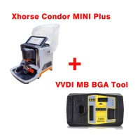 Pre-Order Latest Xhorse Condor MINI Plus Cutting Machine with VVDI MB BGA Tool Benz Key Programmer Get One Free BGA Token Everyday