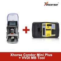【Promotion】UK Ship Xhorse Condor MINI Plus Cutting Machine with VVDI MB BGA Tool Key Programmer Get One Free BGA Token Everyday