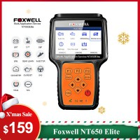 【Xmas Deals】UK Ship Foxwell NT650 Elite All Makes Service Tool with 11 Special Function Updated Version of NT650