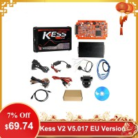[UK Ship] Cheap Kess V2 V5.017 EU Version SW V2.47 with Red PCB Online Version Support 140 Protocol No Token Limited
