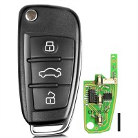 Xhorse Audi A6L Q7 Style Universal Remote Key 3 Buttons X003 for VVDI Key Tool 5pcs/lot