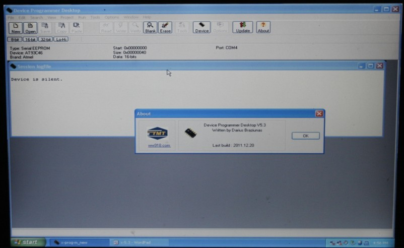 XPROG-M V5.3 software display 2