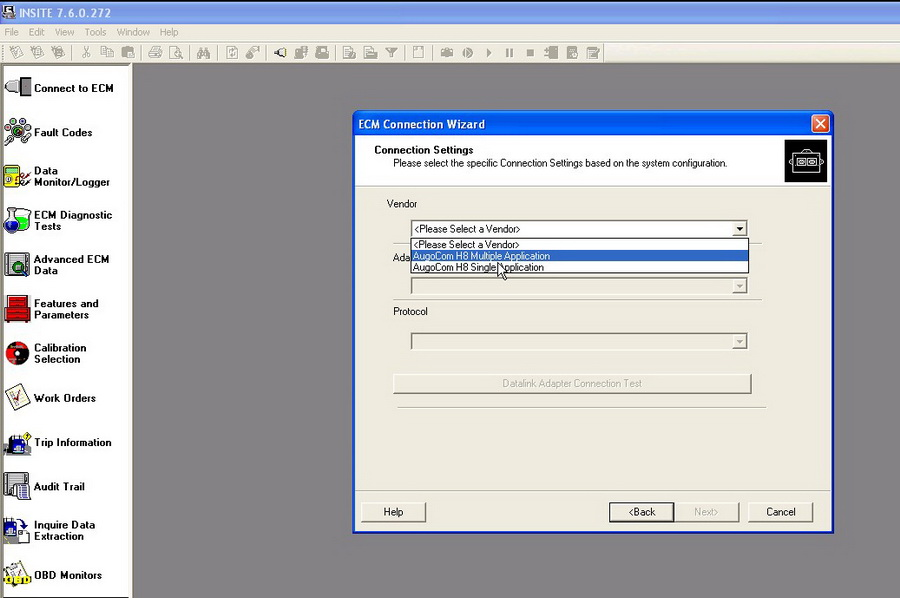 augocom H8 software display 2