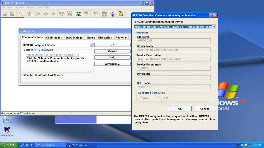 augocom H8 software display 3