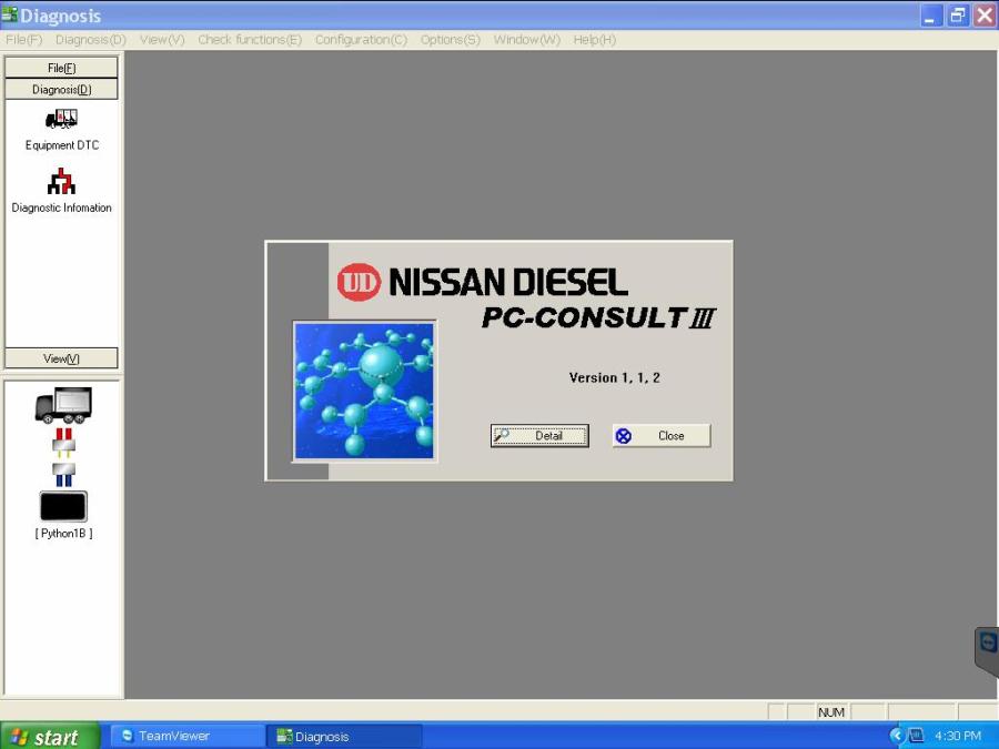 nissan diesel special diagnostic instrumen step2